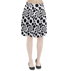 Dot Dots Round Black And White Pleated Skirt