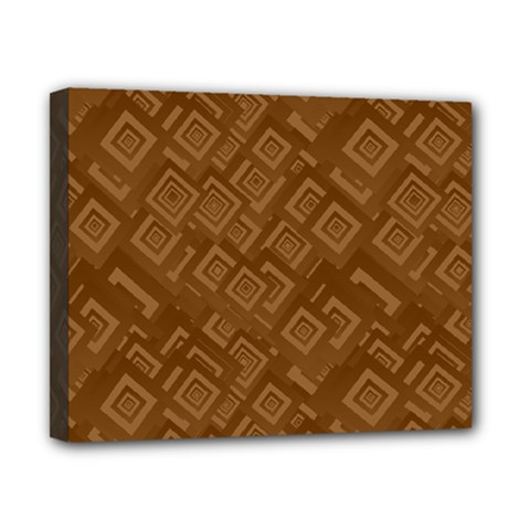 Brown Pattern Rectangle Wallpaper Canvas 10  X 8