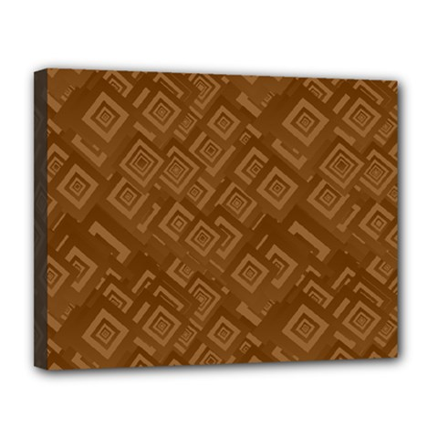 Brown Pattern Rectangle Wallpaper Canvas 14  X 11