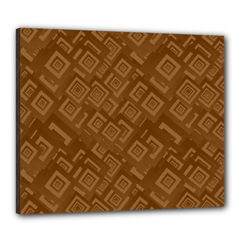 Brown Pattern Rectangle Wallpaper Canvas 24  x 20