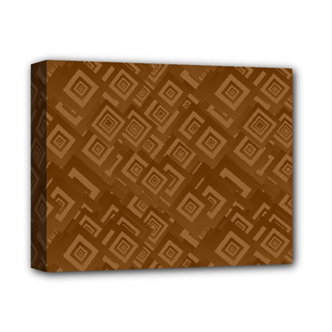 Brown Pattern Rectangle Wallpaper Deluxe Canvas 14  X 11