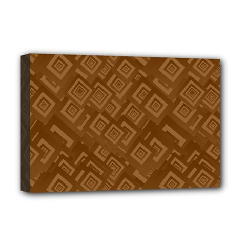 Brown Pattern Rectangle Wallpaper Deluxe Canvas 18  X 12