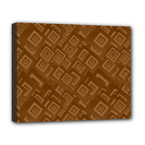Brown Pattern Rectangle Wallpaper Deluxe Canvas 20  X 16