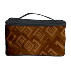 Brown Pattern Rectangle Wallpaper Cosmetic Storage Case