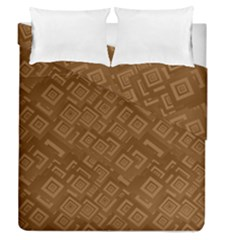 Brown Pattern Rectangle Wallpaper Duvet Cover Double Side (queen Size)