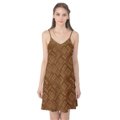 Brown Pattern Rectangle Wallpaper Camis Nightgown