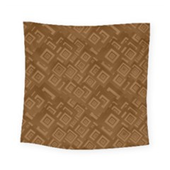Brown Pattern Rectangle Wallpaper Square Tapestry (small)