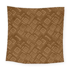 Brown Pattern Rectangle Wallpaper Square Tapestry (large)