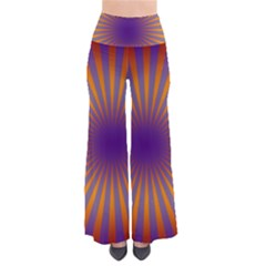 Retro Circle Lines Rays Orange Pants