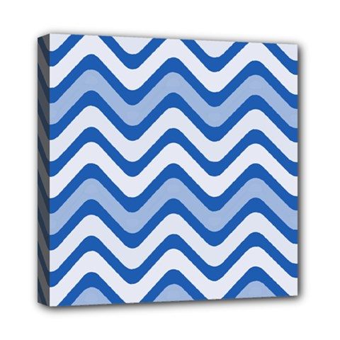 Waves Wavy Lines Pattern Design Mini Canvas 8  X 8