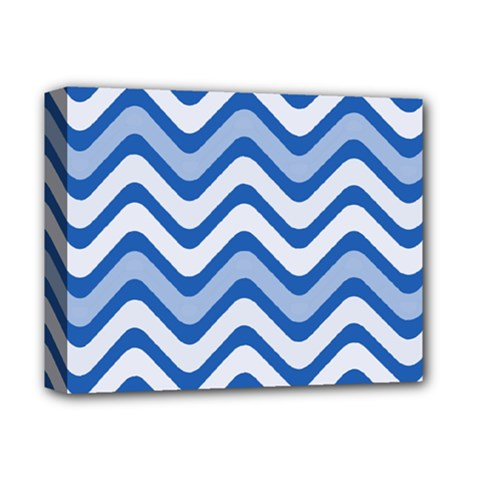 Waves Wavy Lines Pattern Design Deluxe Canvas 14  X 11