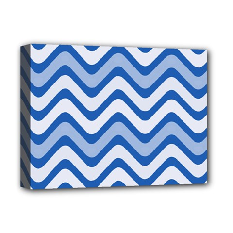 Waves Wavy Lines Pattern Design Deluxe Canvas 16  X 12
