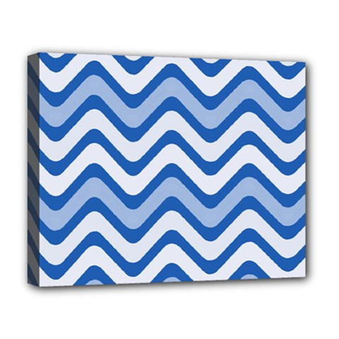 Waves Wavy Lines Pattern Design Deluxe Canvas 20  x 16
