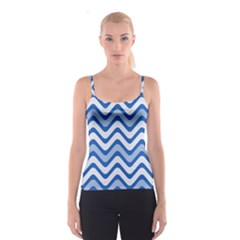 Waves Wavy Lines Pattern Design Spaghetti Strap Top
