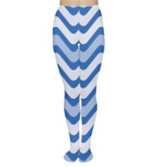 Waves Wavy Lines Pattern Design Women s Tights