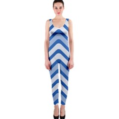Waves Wavy Lines Pattern Design OnePiece Catsuit