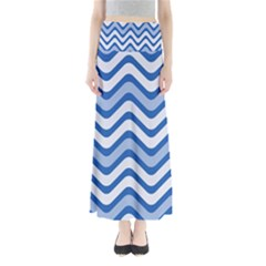 Waves Wavy Lines Pattern Design Maxi Skirts