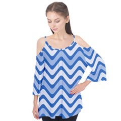 Waves Wavy Lines Pattern Design Flutter Tees