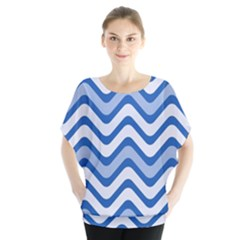 Waves Wavy Lines Pattern Design Blouse