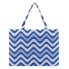 Waves Wavy Lines Pattern Design Medium Tote Bag