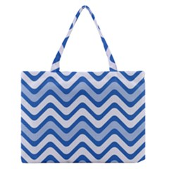 Waves Wavy Lines Pattern Design Medium Zipper Tote Bag
