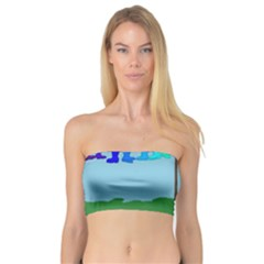 Welly Boot Rainbow Clothesline Bandeau Top