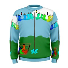 Welly Boot Rainbow Clothesline Men s Sweatshirt