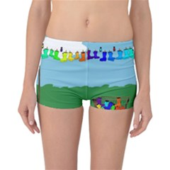 Welly Boot Rainbow Clothesline Reversible Bikini Bottoms