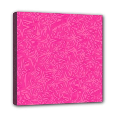 Geometric Pattern Wallpaper Pink Mini Canvas 8  X 8