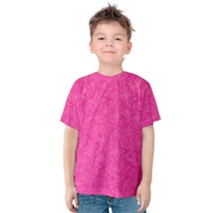 Geometric Pattern Wallpaper Pink Kids  Cotton Tee