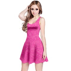 Geometric Pattern Wallpaper Pink Reversible Sleeveless Dress