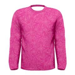 Geometric Pattern Wallpaper Pink Men s Long Sleeve Tee