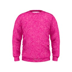 Geometric Pattern Wallpaper Pink Kids  Sweatshirt