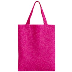 Geometric Pattern Wallpaper Pink Zipper Classic Tote Bag