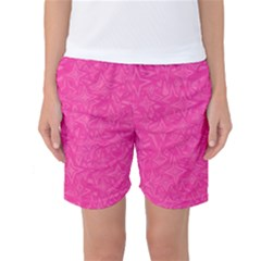 Geometric Pattern Wallpaper Pink Women s Basketball Shorts
