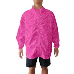 Geometric Pattern Wallpaper Pink Wind Breaker (kids)