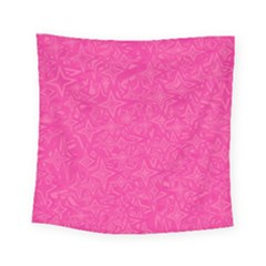 Geometric Pattern Wallpaper Pink Square Tapestry (small)