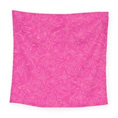 Geometric Pattern Wallpaper Pink Square Tapestry (large)
