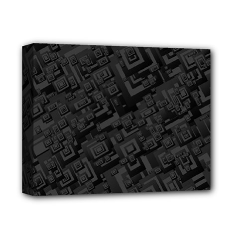Black Rectangle Wallpaper Grey Deluxe Canvas 14  X 11