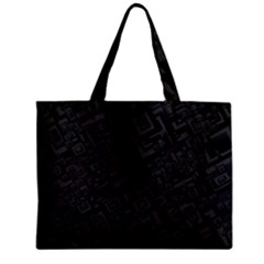 Black Rectangle Wallpaper Grey Zipper Mini Tote Bag