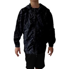 Black Rectangle Wallpaper Grey Hooded Wind Breaker (kids)