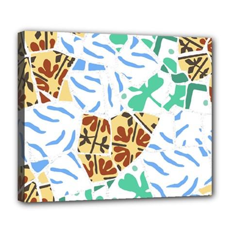 Broken Tile Texture Background Deluxe Canvas 24  X 20