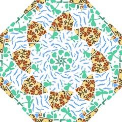 Broken Tile Texture Background Hook Handle Umbrellas (Medium)