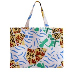 Broken Tile Texture Background Zipper Mini Tote Bag