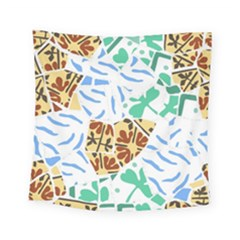 Broken Tile Texture Background Square Tapestry (small)
