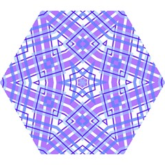 Geometric Plaid Pale Purple Blue Mini Folding Umbrellas