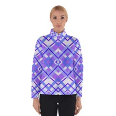Geometric Plaid Pale Purple Blue Winterwear