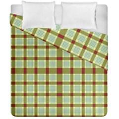 Geometric Tartan Pattern Square Duvet Cover Double Side (california King Size)