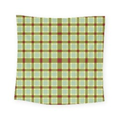Geometric Tartan Pattern Square Square Tapestry (small)