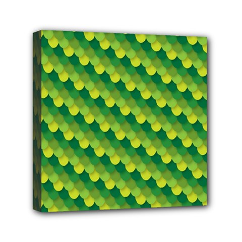 Dragon Scale Scales Pattern Mini Canvas 6  X 6